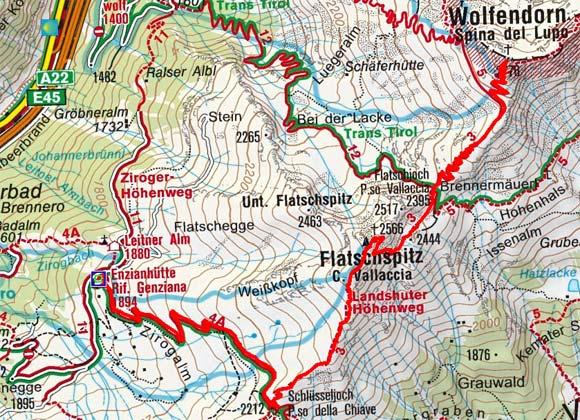 Wolfendorn (2776 m) von der Enzianhütte