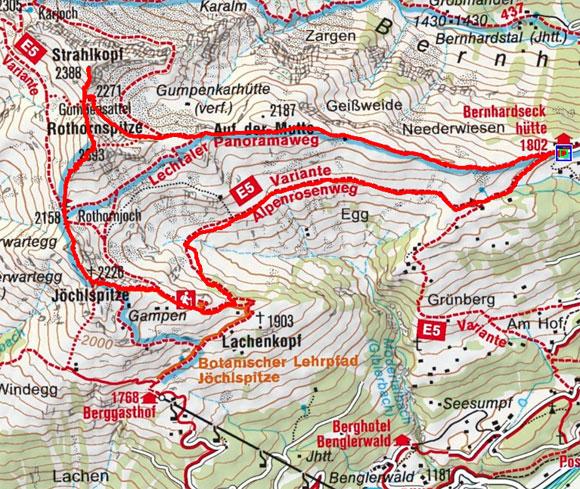 3-Gipfel-Rundtour von der Bernhardseckhütte