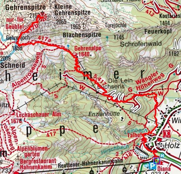 Gehrenspitze (2163 m) von Höfen