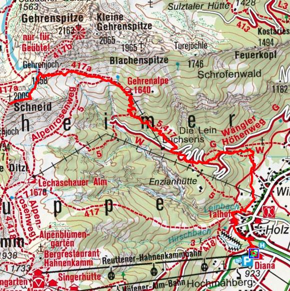 Schneidspitze (2009 m) von Höfen