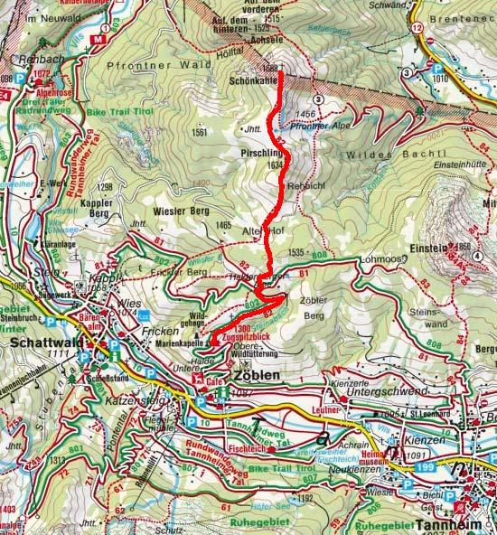 Schönkahler (1688 m) vom Berggasthof Zugspitzblick