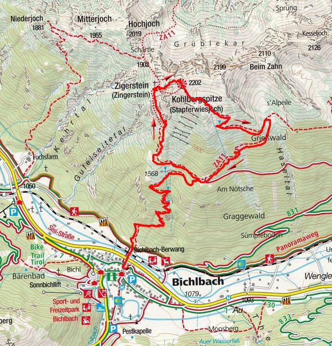 Kohlbergspitze, 2202m – Bergtour von Bichlbach