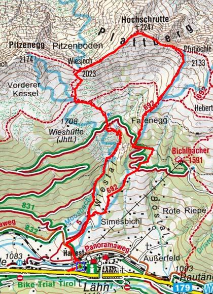 Plattberg (2247 m) von Lähn