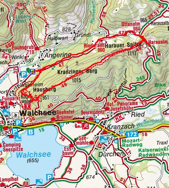 Harauer Spitze (1117 m) von Winkl