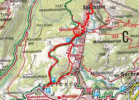 Spitzstein (1598 m) vom Erlerberg