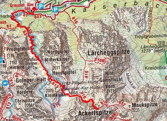 Ackerlspitze (2329 m) von der Griesneralm
