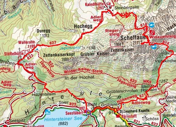 Scheffauer (2113 m) vom Hintersteinersee