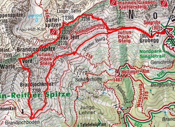 Vordere Brandjochspitze (Südgrat), 2.559 m