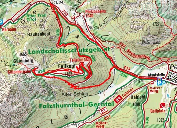 Feilkopf (1562 m) von Pertisau
