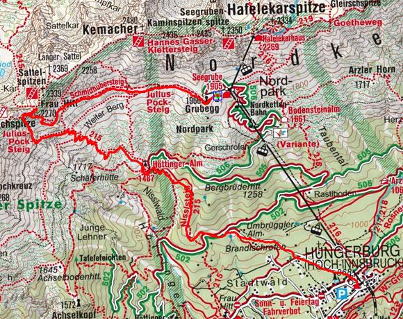 Frau Hitt (2270 m) von der Seegrube