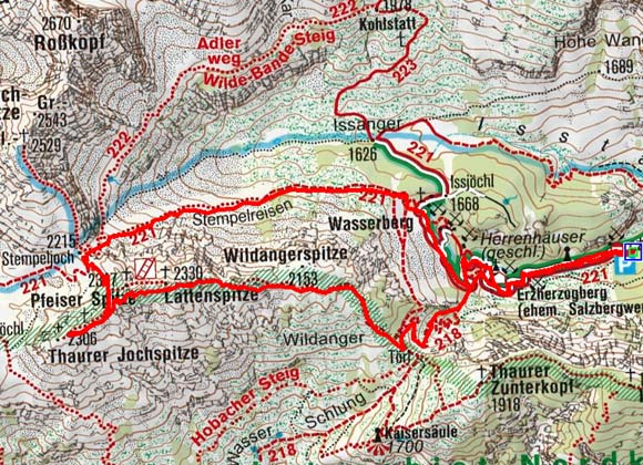 Lattenspitze/Pfeiser Spitze/Thaurerjochspitze (2330/2347/2306 m) Überschreitung