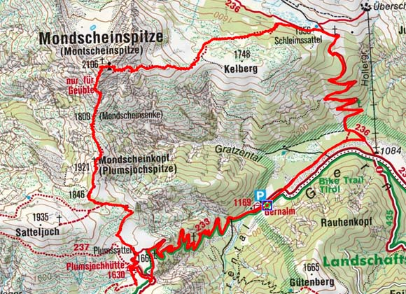 Montscheinspitze (2106 m) aus dem Gerntal