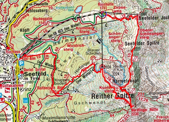 Reitherspitze (2374 m) von der Rosshütte