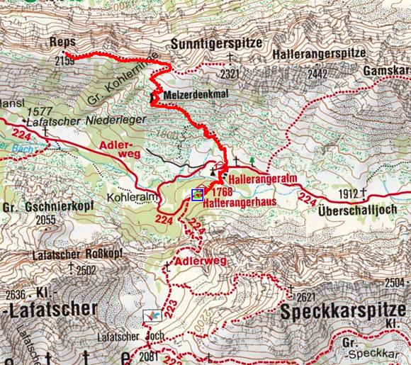 Reps (2159 m) vom Hallerangerhaus