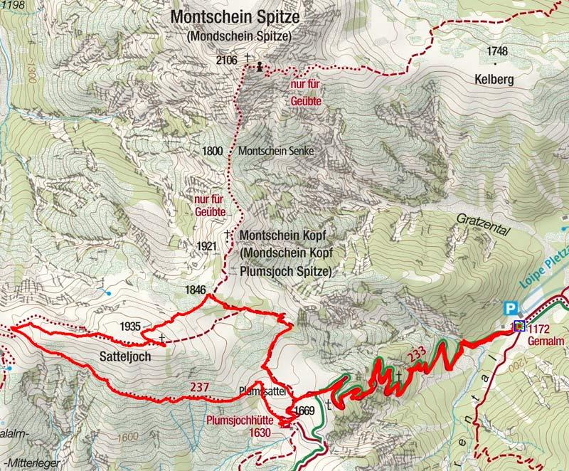 Satteljoch (1935 m) von der Gern Alm
