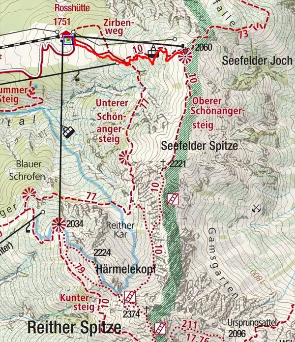 Seefelder Joch (2060 m) von der Rosshütte