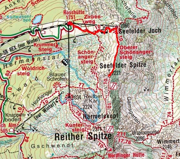 Seefelder Spitze (2221 m) von der Rosshütte