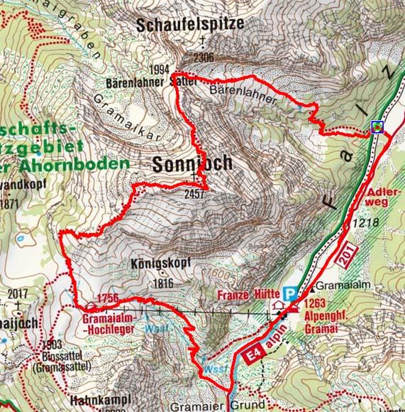 Sonnjoch-Überquerung (2457 m) aus dem Falzthurntal