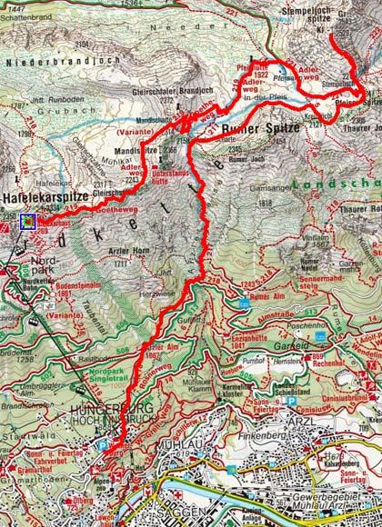 Kleine Stempeljochspitze (2523 m) vom Hafelekar