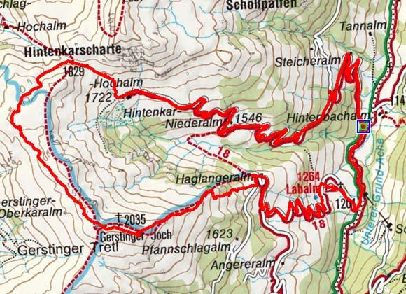 Gerstinger Joch (2035 m) über die Hintenkarscharte