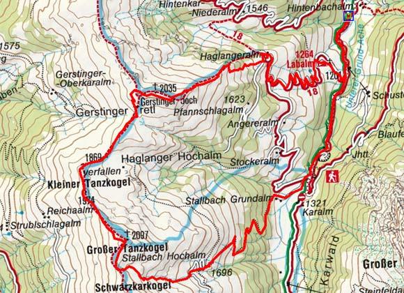 Gerstinger Joch-Tanzkogel (2035/2097 m) - Rundtour