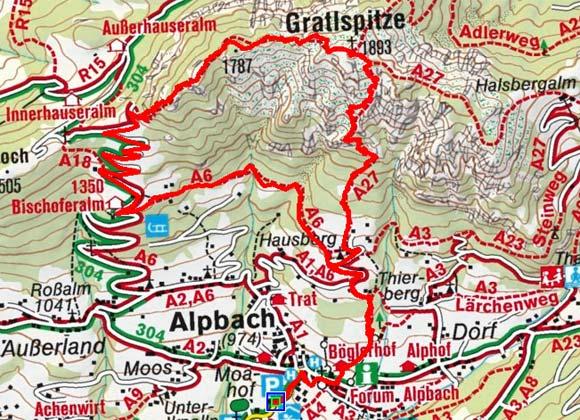 Gratlspitze (1899 m) von Alpbach