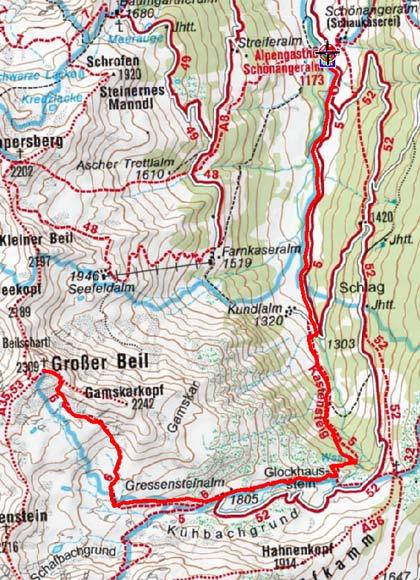 Großer Beil (2309 m) von der Schönangeralm