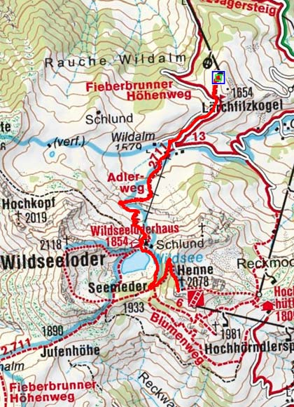 Henne (2078 m) vom Lärchfilzkogel