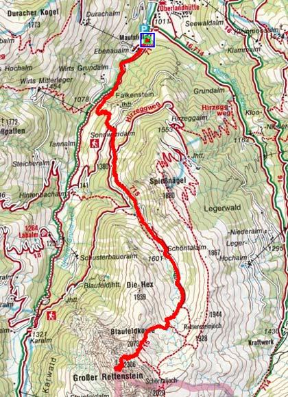 Großer Rettenstein (2366 m) von Aschau