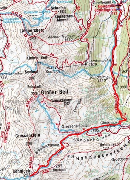 Sonnjoch (2287 m) von der Schönangeralm