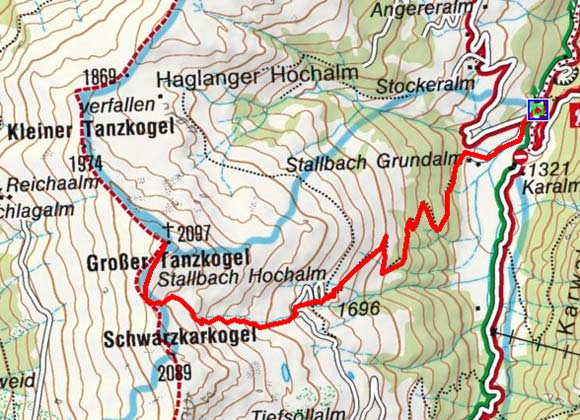 Großer Tanzkogel (2097 m) aus dem Unterer Grund