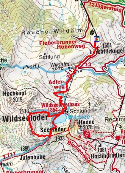 Wildseeloder (2117m) vom Lärchfilzkogel