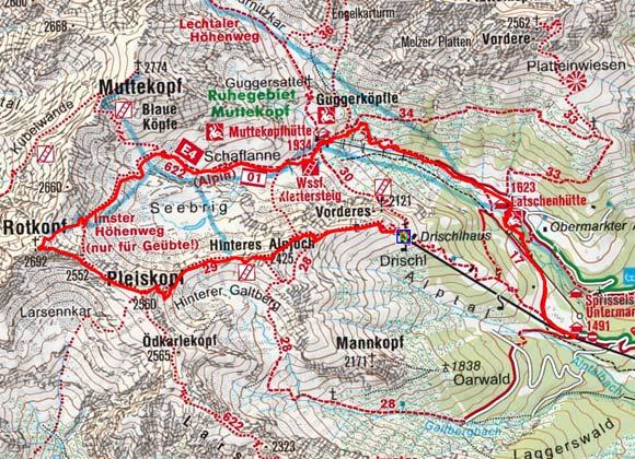 Rotkopf (2692 m) vom Drischlhaus