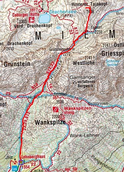 Hinterer Tajakopf (2408 m) vom Lehnberghaus