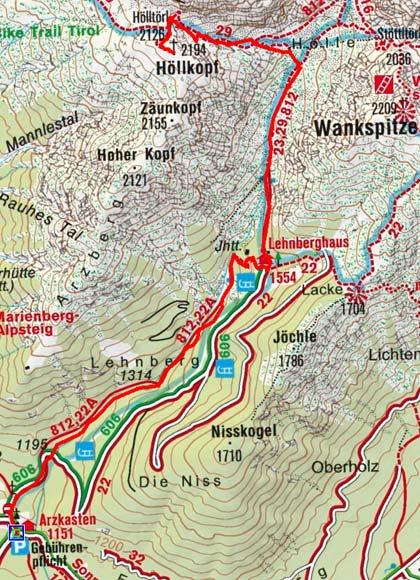 Höllkopf (2194 m) über Lehnberghaus