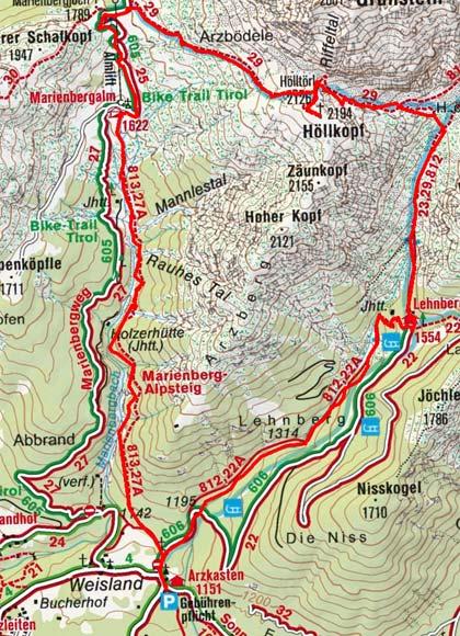 Höllkopf-Rundtour (2194 m) vom Gasthof Arzkasten