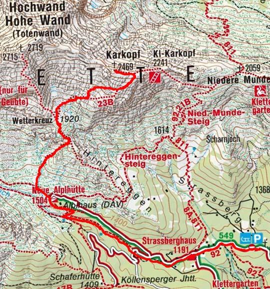 Karkopf (2469 m) vom Strassberghaus