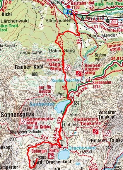 Vorderer Drachenkopf (2303 m) von Ehrwald