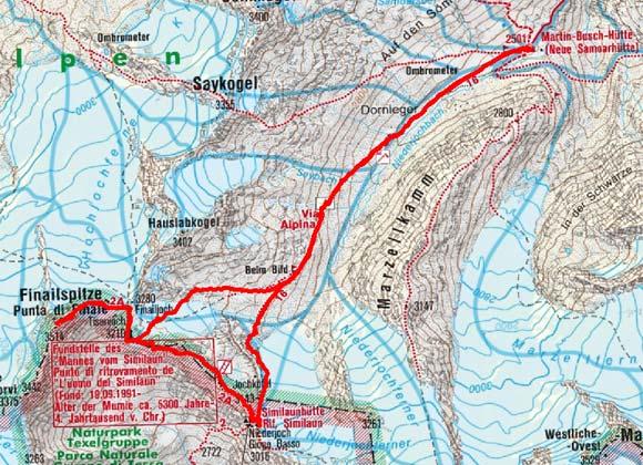 Fineilspitze (3516 m) von der Martin Busch Hütte