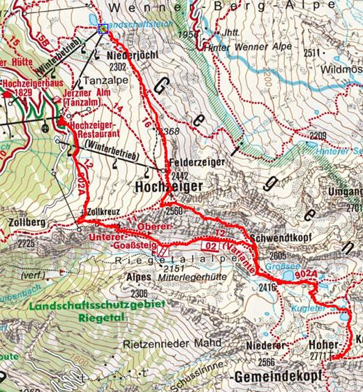 Gemeindekopf (2771 m) über den Hochzeiger