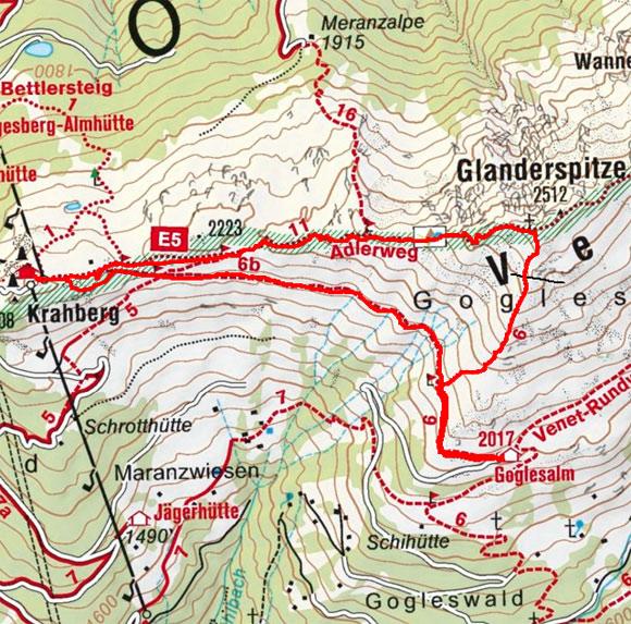 Glanderspitze (2512 m) von der Venetbahn
