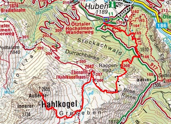 Hahlkogel (2655 m) von Huben