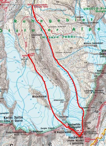 Hochwildeüberschreitung (3458/3480 m) vom Hochwildehaus