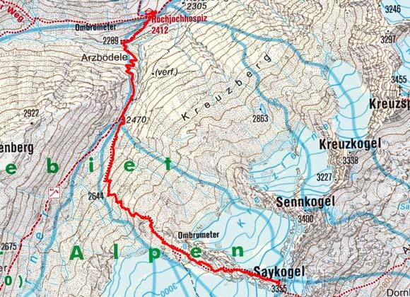 Saykogel (3335 m) vom Hochjoch Hospiz