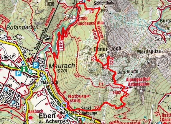 Ebner Joch (1957 m) von Eben