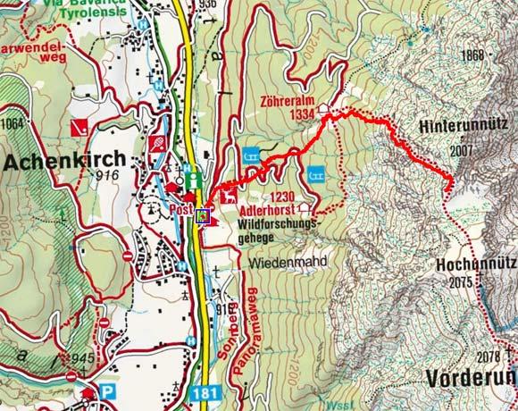 Hinterunnütz (1960 m) von Achenkirch