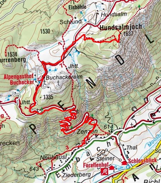 Hundsalmjoch (1637 m) von Embach