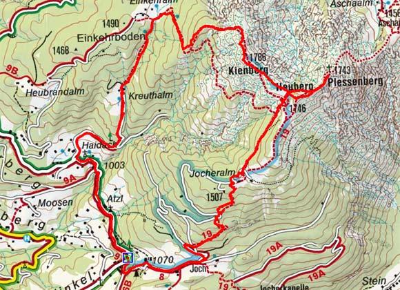 Plessenberg (1743 m) von Brandenberg