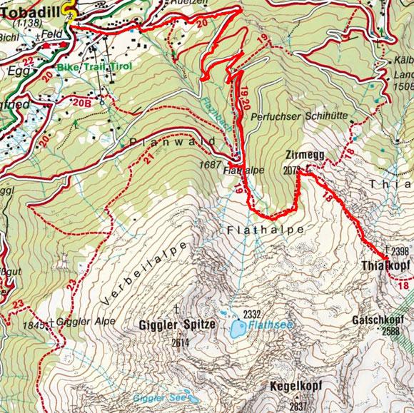 Thialkopf (2398 m) von Tobadill