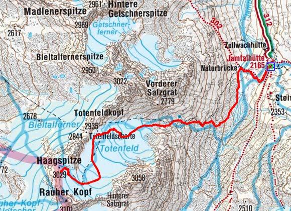 Haagspitze (3029 m) von der Jamtalhütte